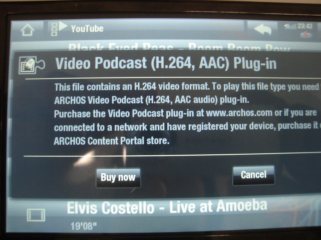 plug-in archos video podcast h.264 aac audio