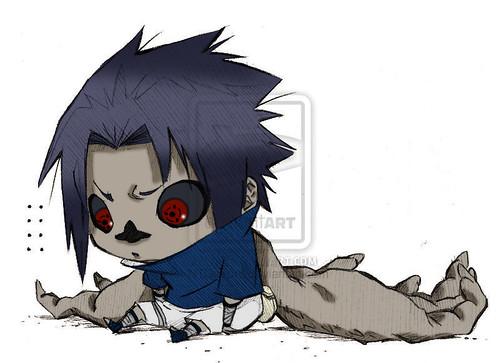sasuke curse mark chibi | the one is omg cute. double aww ...