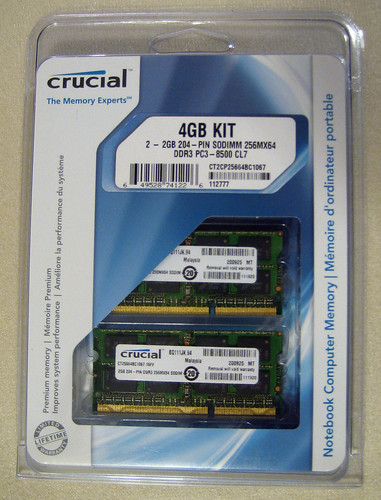 MacBook Pro upgrade: Crucial RAM memory 4GB | by Cameron Moll