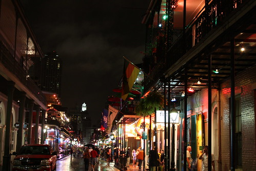 Bourbon Street Between Orleans and St. Ann, French Quarter, New Orleans, Louisiana 4 | by Ken Lund