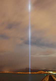 IMAGINE PEACE TOWER lighting tests 5 Oct 2009 | by Yoko Ono official