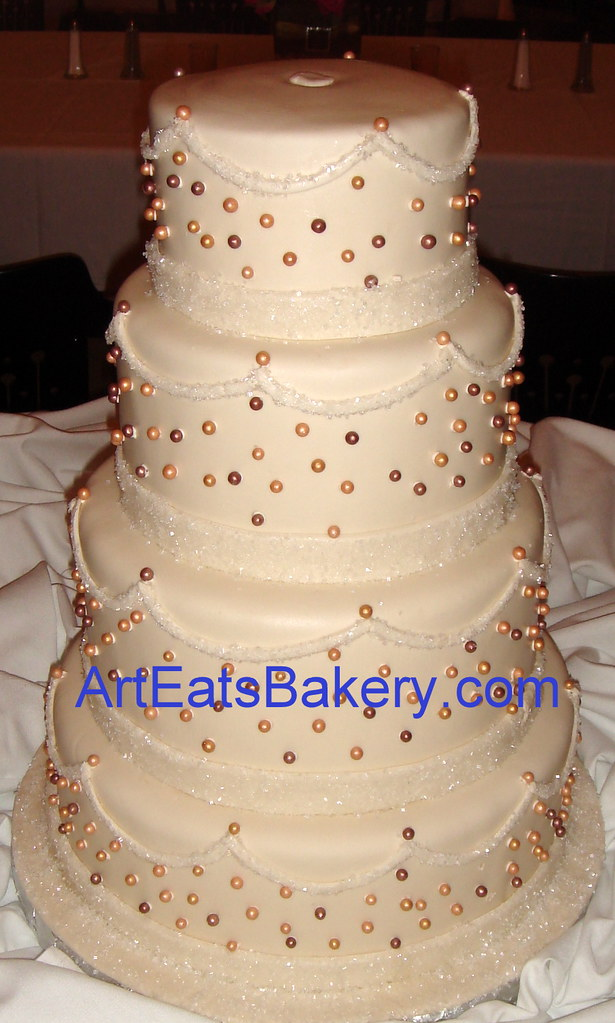 wedding cake with sugar crystals four tier ivory fondant wedding cake with sugar crystals a 26969