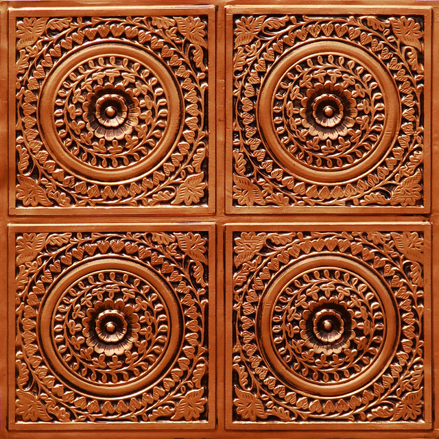 Faux Tin Ceiling Tile 117 Antique Copper At Www Tinloo