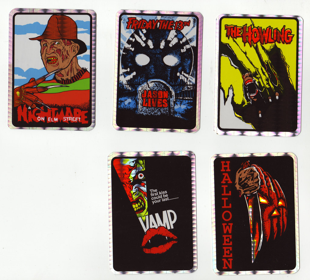 80s Vending Machine Horror stickers | These came from one of