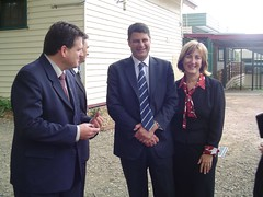 Ben Hardman MP, Premier Bracks and Principal Tierney | by Bill's Archive
