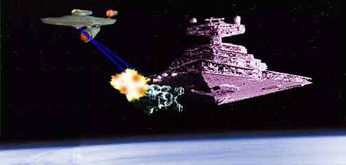 USS Enterprise vs. Star Destroyer | The never ending ...