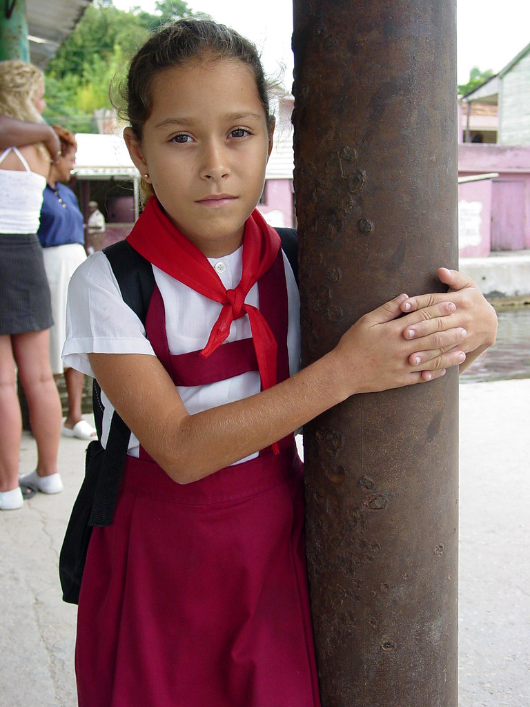 Young Girl In School Uniform - Near Santiago De Cuba - Cub -5445