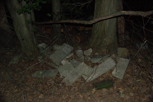 Pile of stones in the corner of cemetery | by kristindale