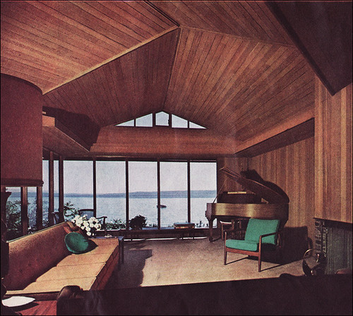 Simple White Mcm Living Room: 1963 MCM Living Room With A VIEW!
