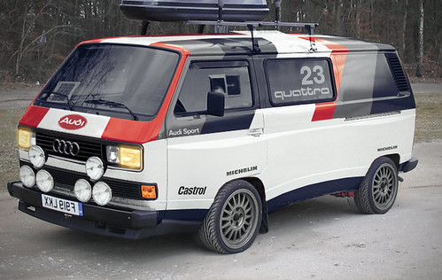 Vw Audi T25 Quattro Support Vehicle For The Paris