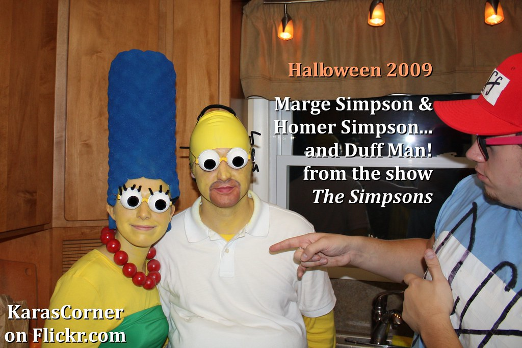 Marge Simpson And Homer From The Simpsons Homema Flickr