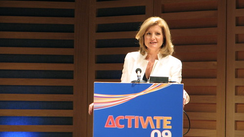 Arianna Huffington at Activate 09 | by Roo Reynolds