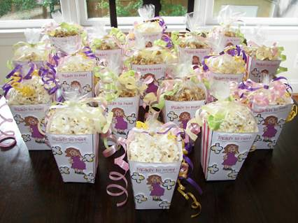 Baby Shower Popcorn Boxes Decorated Syn Whiley Flickr
