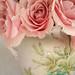 Pink Roses in Vintage Cup