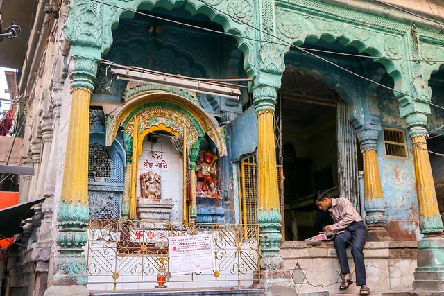A Hindu temple in ond city, Jodhpur, India ジョードプル旧市街のヒンドゥー寺院