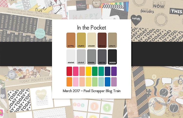PixelScrapper March 2017 Blog Train Palette