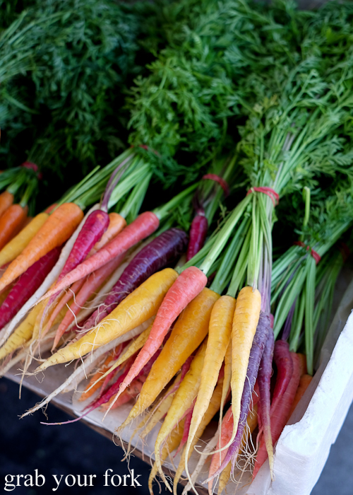 Rainbow carrots at the Salamanca Market in Hobart