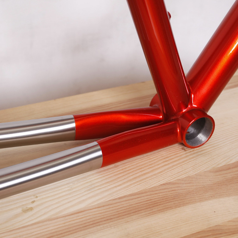 Kualiscycles Ti road Frame Painted by Swamp Things