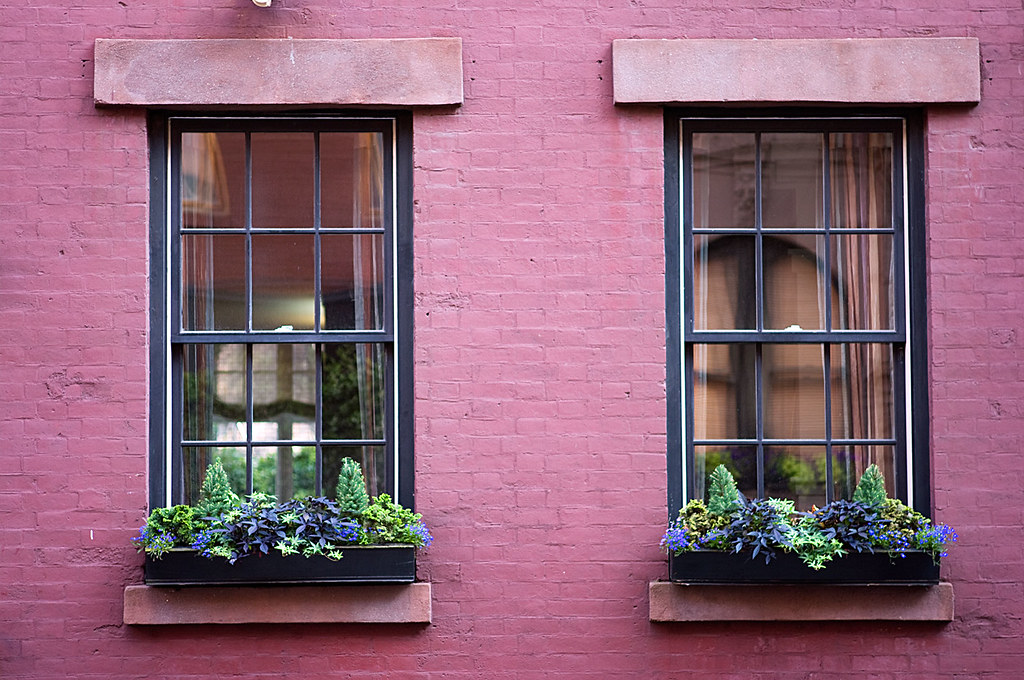 Windows With Flower Boxes I Bought A 70mm Prime Lens It