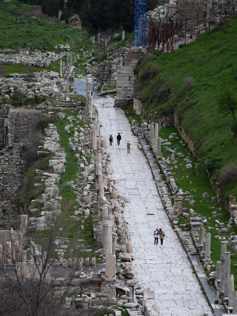 Marble Street in Ephesus  View of the Marble Street which ...