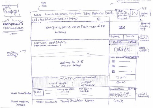 Rough wireframe for the new Account Planning Group (APG) website | by mark-pollard