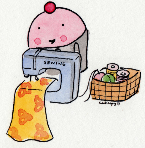 Cuppie loves to sew | by cakespy