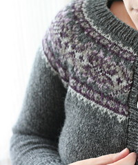Plum Frost Cardigan | by ElinorB