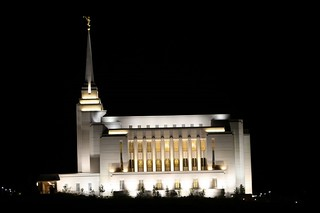 "255/366 THE WORLD--Rexburg, Idaho ""LDS Temple at night"" 