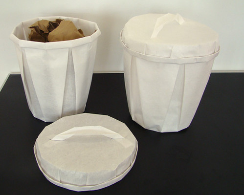 disposable trash cans. Disposable Paper Trash Can | By Inhabitat Cans P