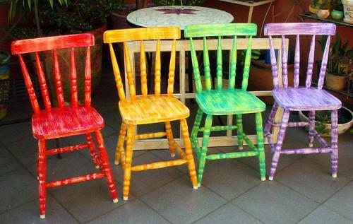 Cadeiras Pintadas 192 M 195 O P 193 Tina Www Alemdaruaatelier