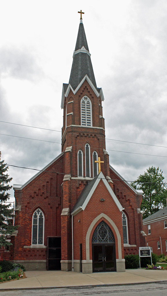 Morrisonville Il St Maurice Catholic Church A View Of