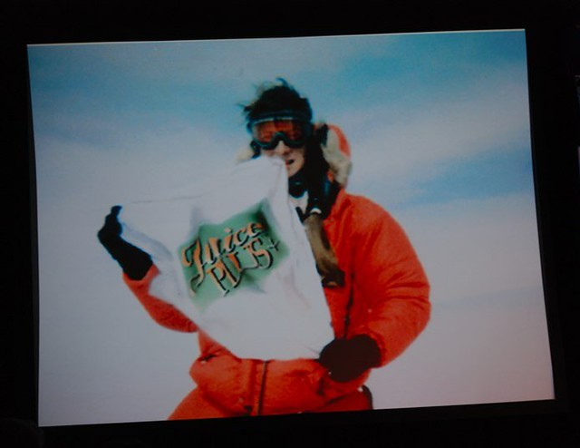 Bear Grylls on Top of Mt Everest with a Juice Plus Shirt M ...