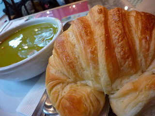 Ham & Split Pea soup with Croissant | by Lara604