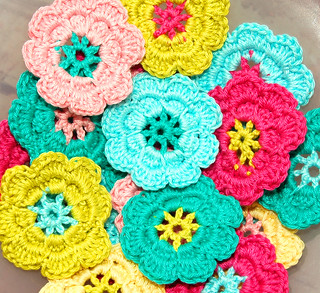 Crochet flowers | by Holland Fabric House