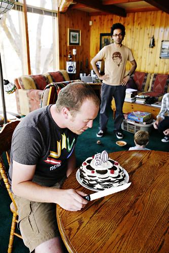 Big Chocolate Birthday Cake With Name