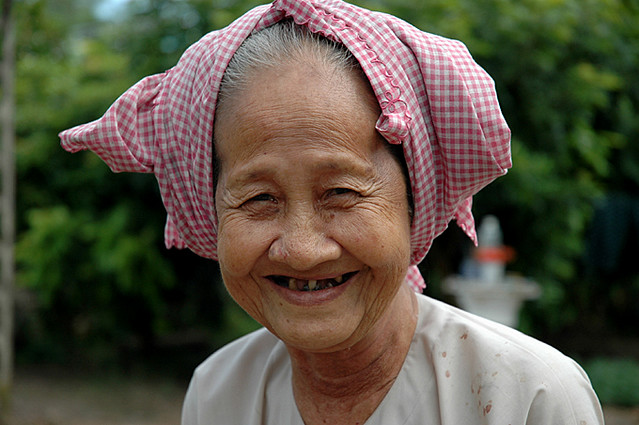 Old lady asian