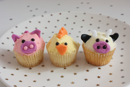 Animal farm cupcakes www ilovemuffins es blog vanilla bean