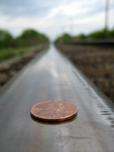 Minneapolis: penny on the train tracks | about to be ...