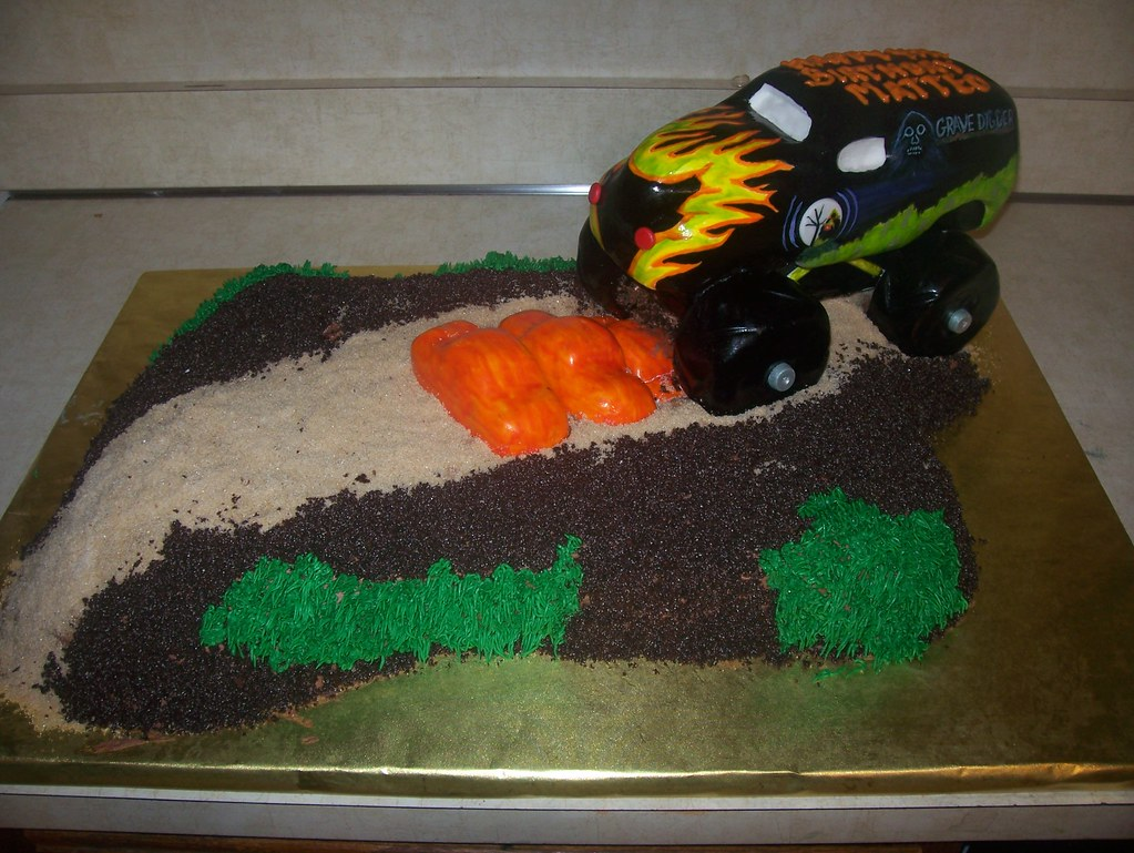 Grave Digger Monster Truck Cake All Edible Cake With