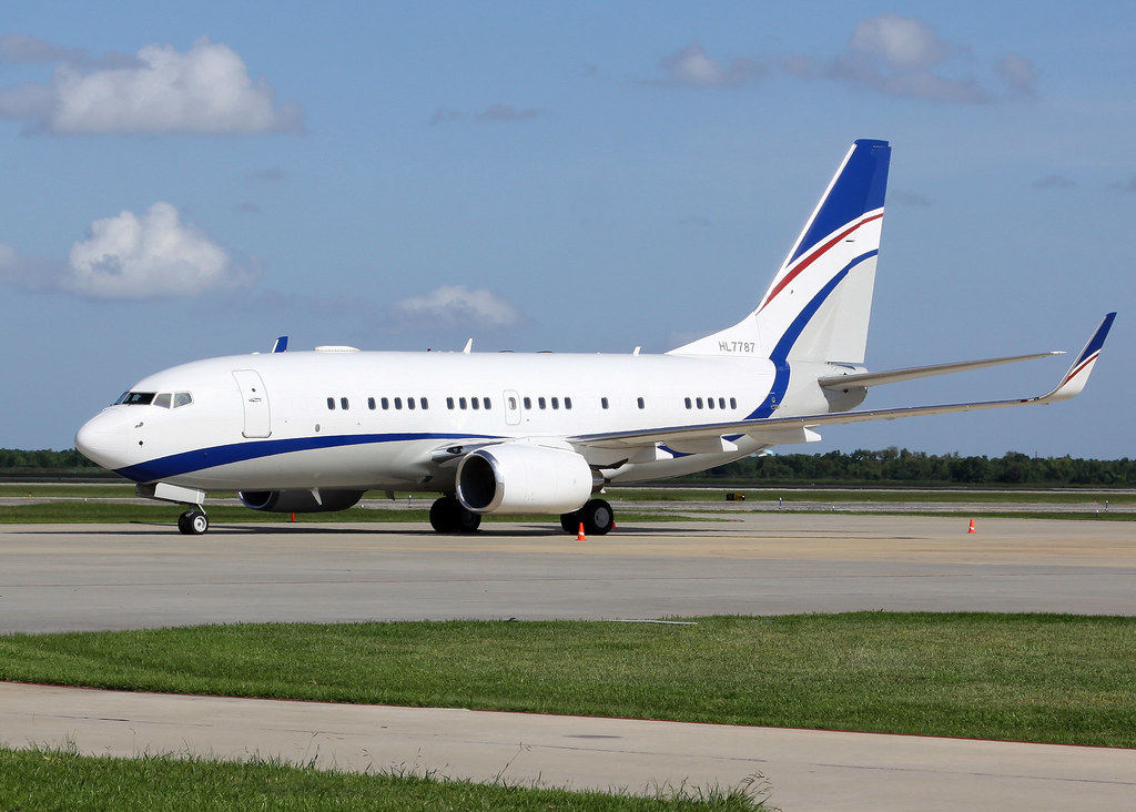 Boeing Business Jet Bbj 737 7eg Hl7787 Hyundai Corpora