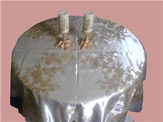 Nappe et bougies avec peinture sur tissu azizadecoration aziza flickr - Enlever bougie sur nappe ...
