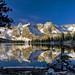 Alice Lake shortly after sunrise Sawtooth National Forest Idaho