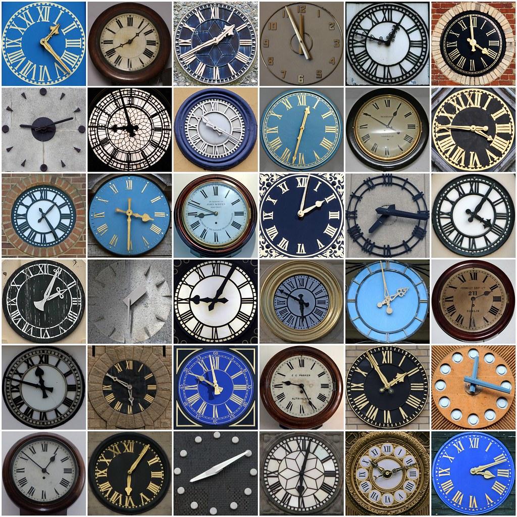 Clocks 1 Clock 2 Clock 3 Clock 4 Clock 5 Clock