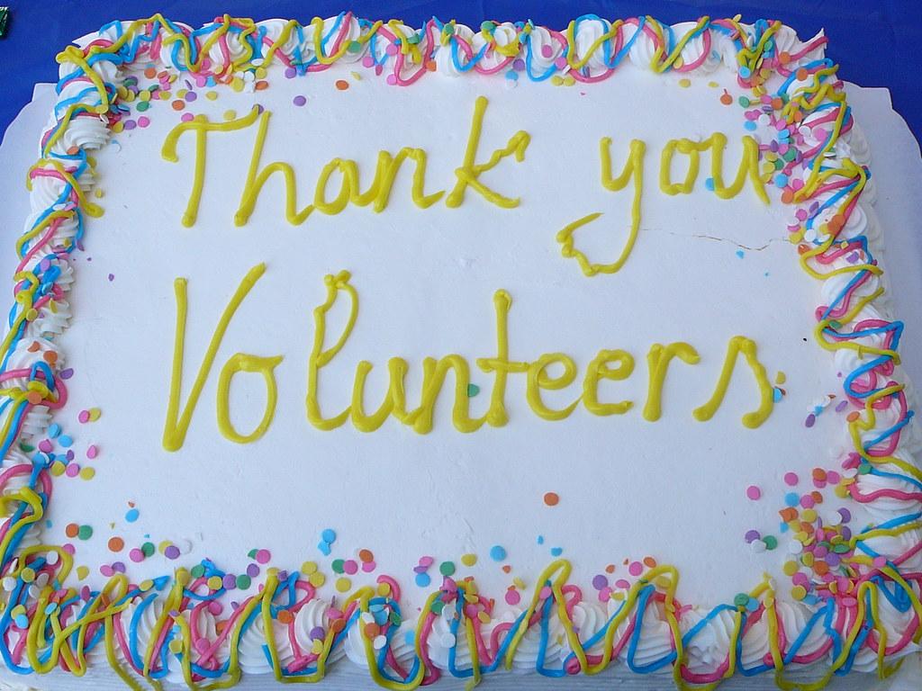 Thank You Volunteers Cake Calabazas Branch Volunteer Appr Flickr