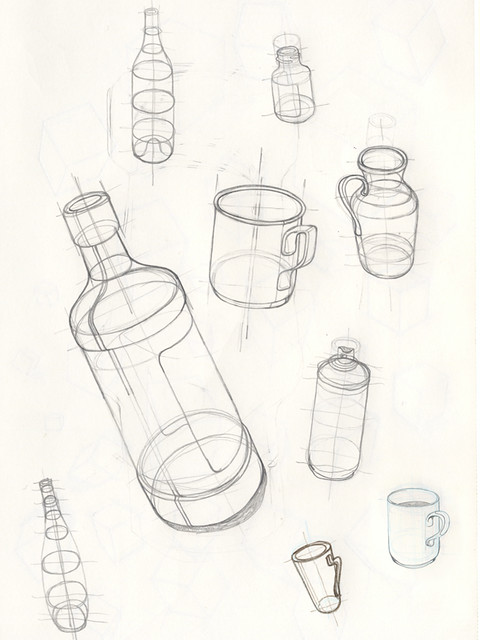 basic bottle drawings more basic drawing from my re teach flickr