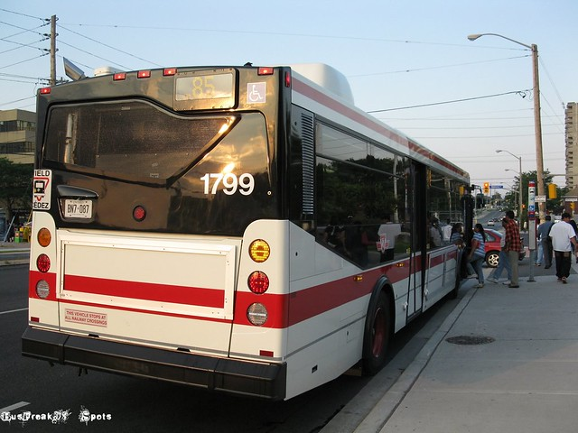 Ttc orion vii ng lithium hybrid 1799 on route 85 for 85 bus timetable