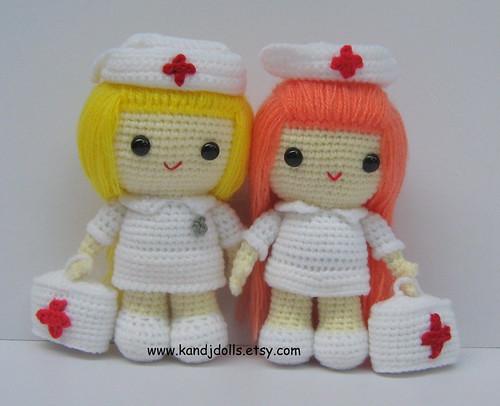 Amigurumi Crochet Patterns K And J Dolls : Nurse Jazzy, amigurumi, crochet pattern For sale on www ...