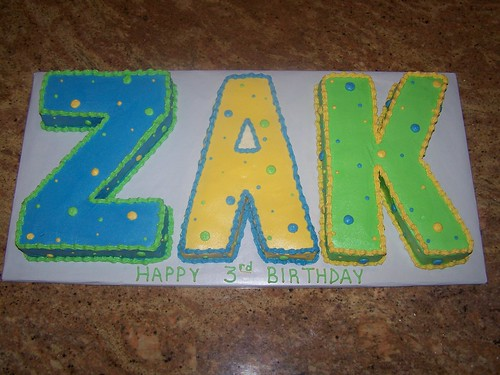 Zak name cake Sheena Flickr