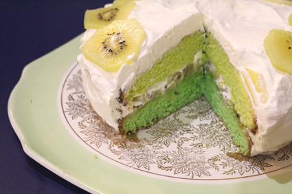kiwifruit cake My twoweeklate birthday cake YUM dearlydee