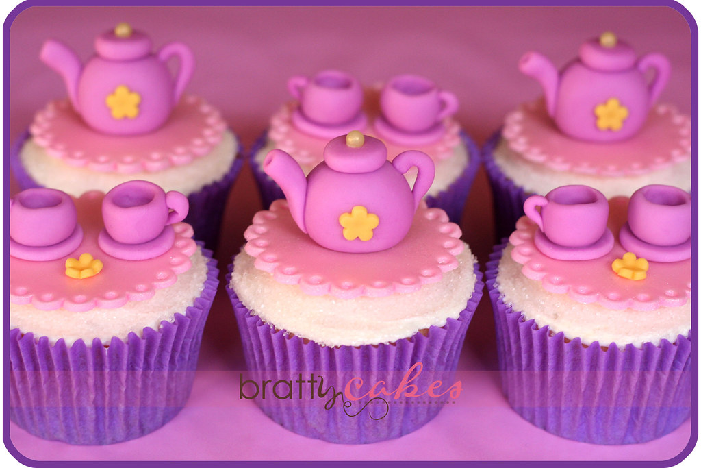 Images Of Party Cupcake : Princess Tea Party Cupcakes Moist Vanilla cupcakes to ...